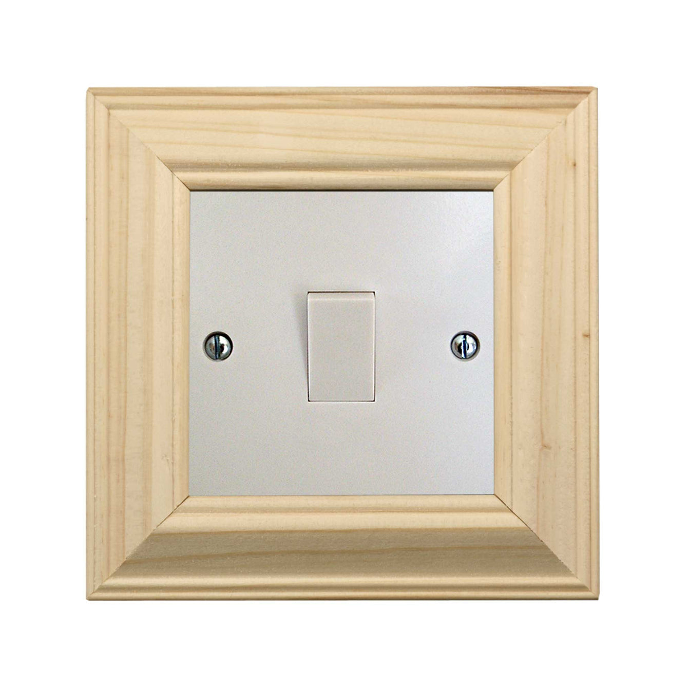 ElekTek Switch Surround Ovolo Frame Cover Finger Plate Pine Shades Honey Pine