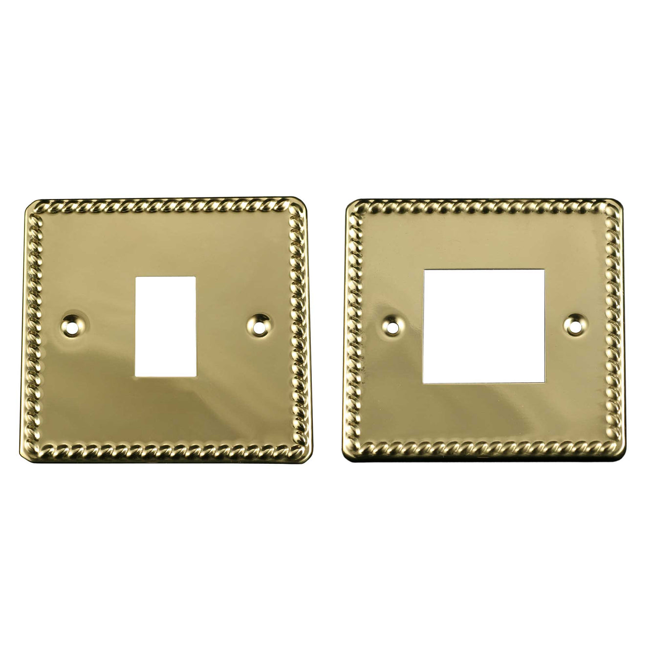 ElekTek Light Switch Conversion Cover Plate Georgian Brass Single Double - Buy It Better Single