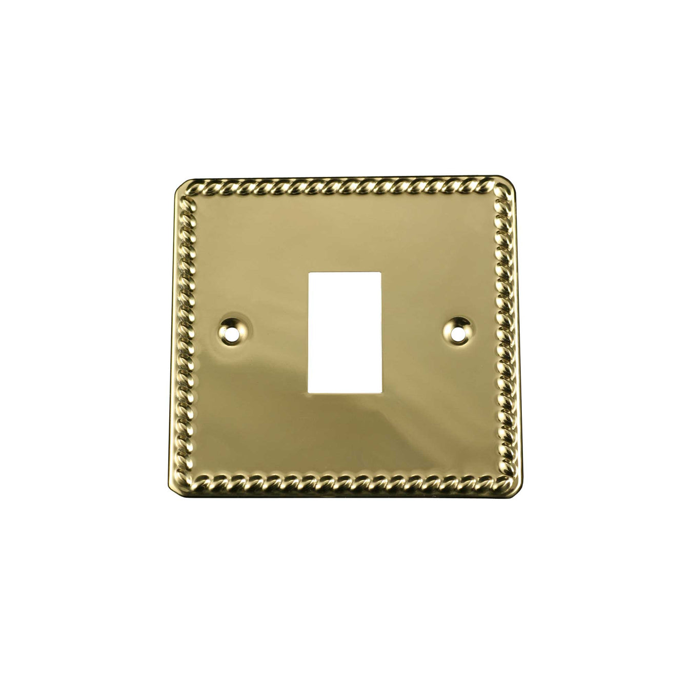 ElekTek Light Switch Conversion Cover Plate Georgian Brass Single Double Double