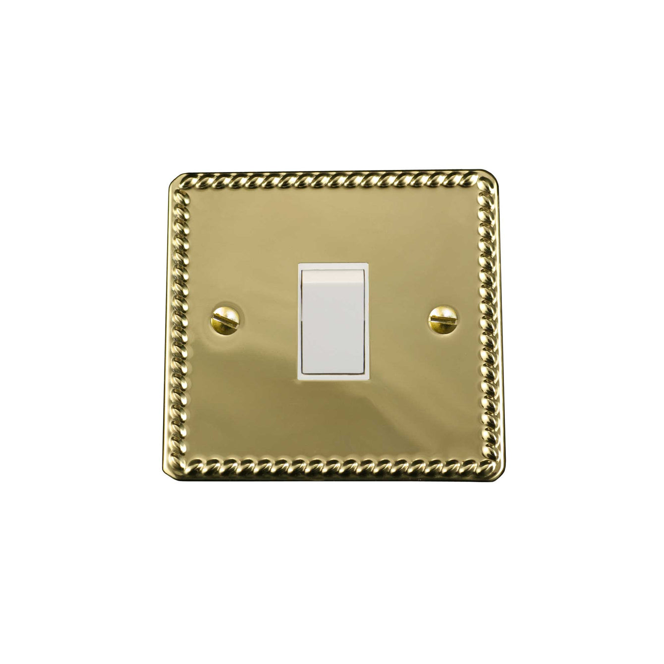 ElekTek Light Switch Conversion Cover Plate Georgian Brass Single Double - Buy It Better