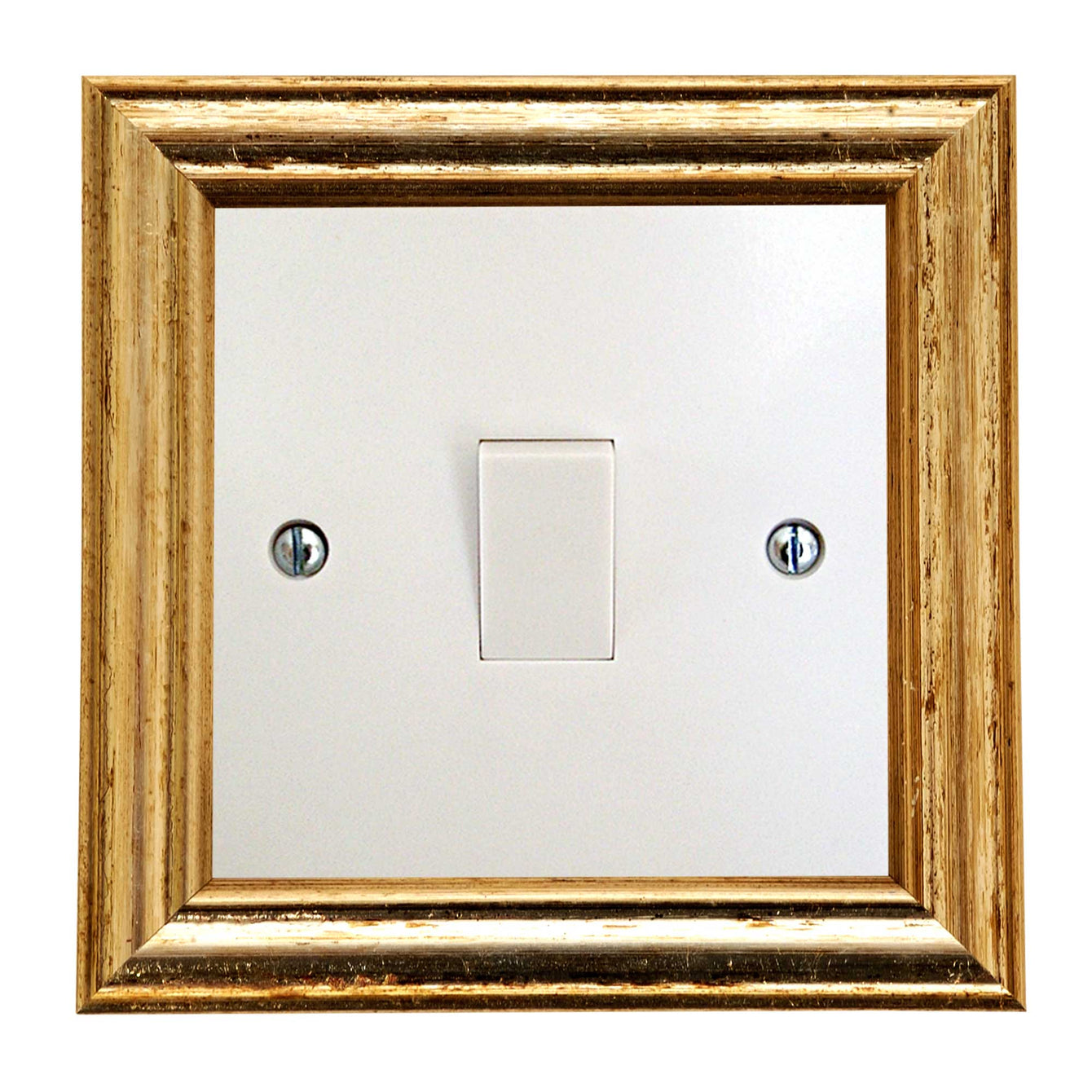 ElekTek Switch Surround Edwardian Frame Cover Finger Plate Colours Black/Gold