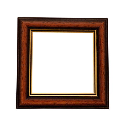 ElekTek Switch Surround Regency Gold And Mahogany Effect Frame Cover Finger Plate