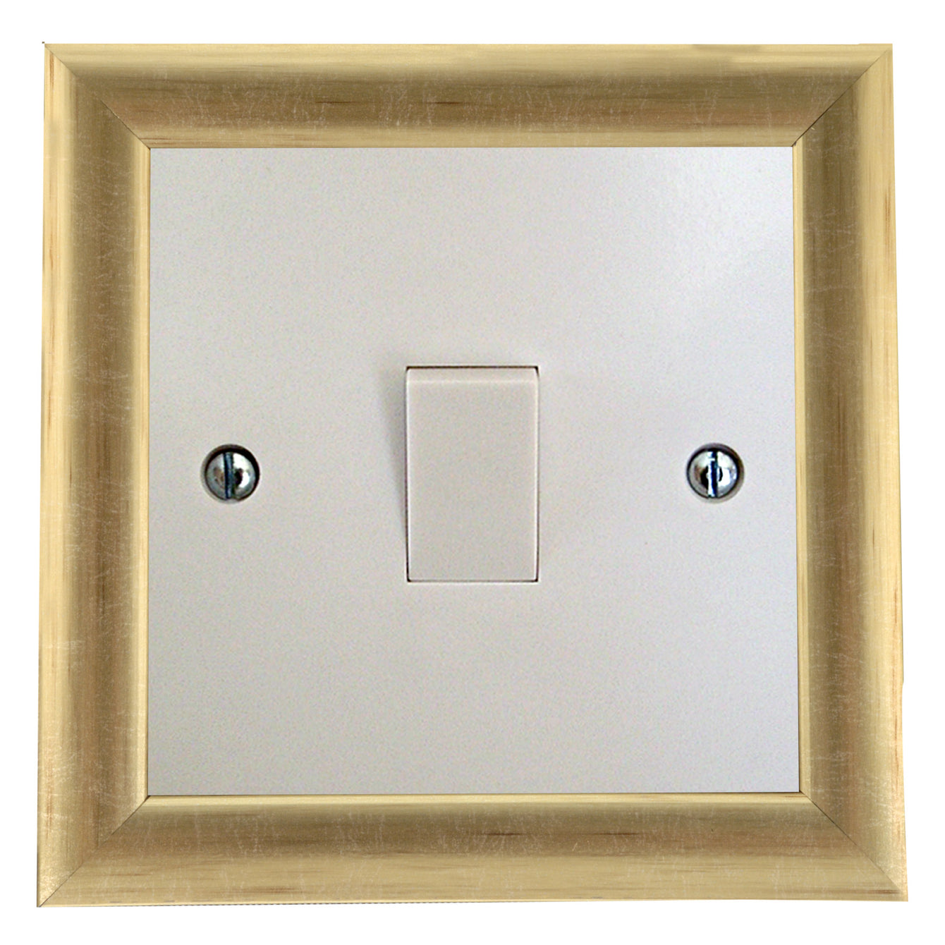 ElekTek Switch Surround Contemporary Frame Cover Finger Plate Colours - Buy It Better Satin Chrome