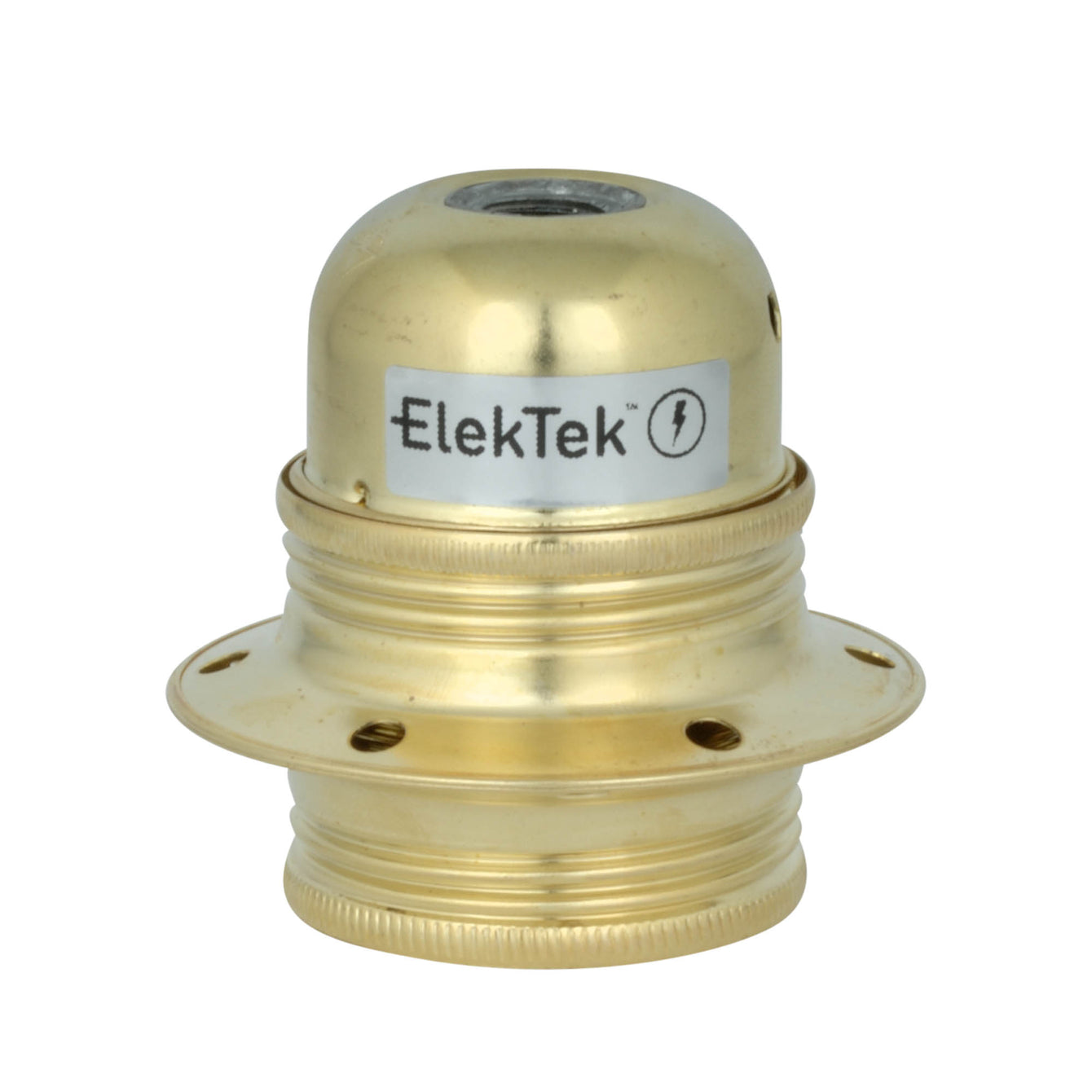 ElekTek ES Edison Screw E27 Economy Cord Grip Lamp Holder With Shade Ring - Buy It Better Nickel