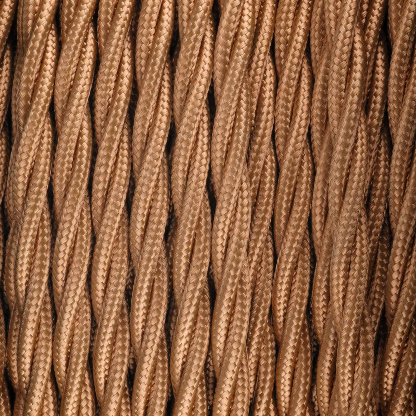ElekTek Twisted Braided Fabric Flex Per Linear Metre Colours - Buy It Better Black (Bronze)