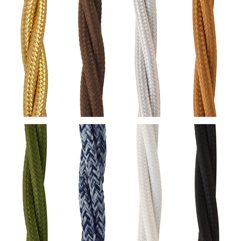 ElekTek Twisted Braided Fabric Flex Per Linear Metre Colours