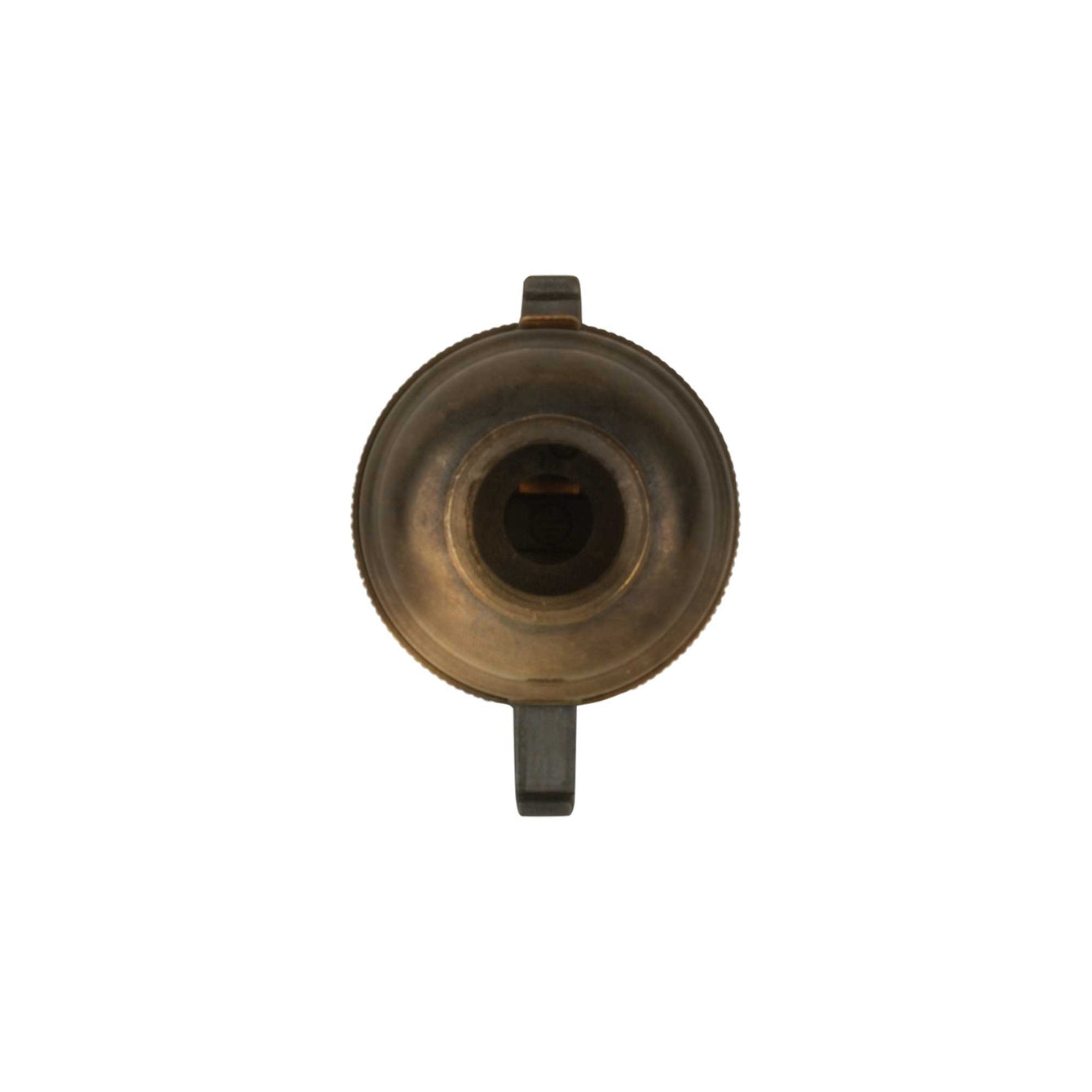 ElekTek Safety Switch Lamp Holder Bayonet Cap B22 10mm or Half Inch Entry With Shade Ring Solid Brass - Buy It Better