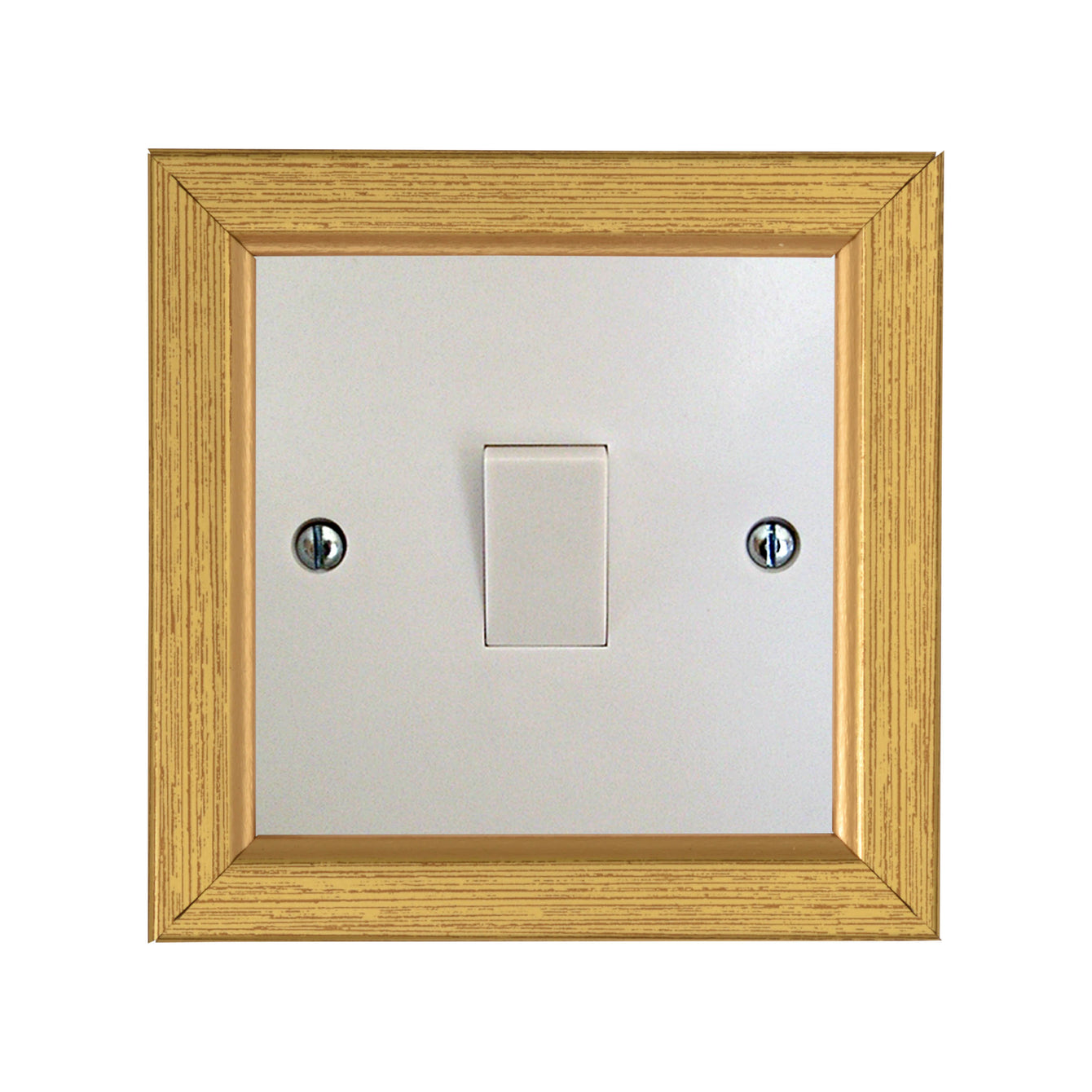 ElekTek Switch Surround Rivoli Frame Cover Finger Plate Colours - Buy It Better Grained Silver
