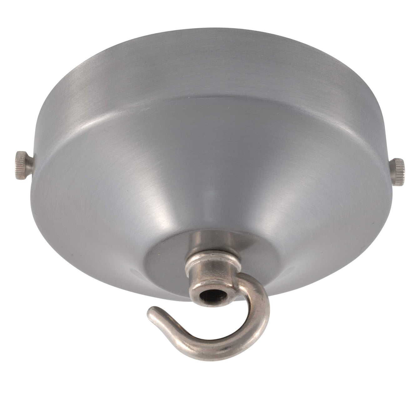 ElekTek 100mm Diameter Convex Ceiling Rose with Strap Bracket and Hook Metallic and Powder Coated Finishes Pink