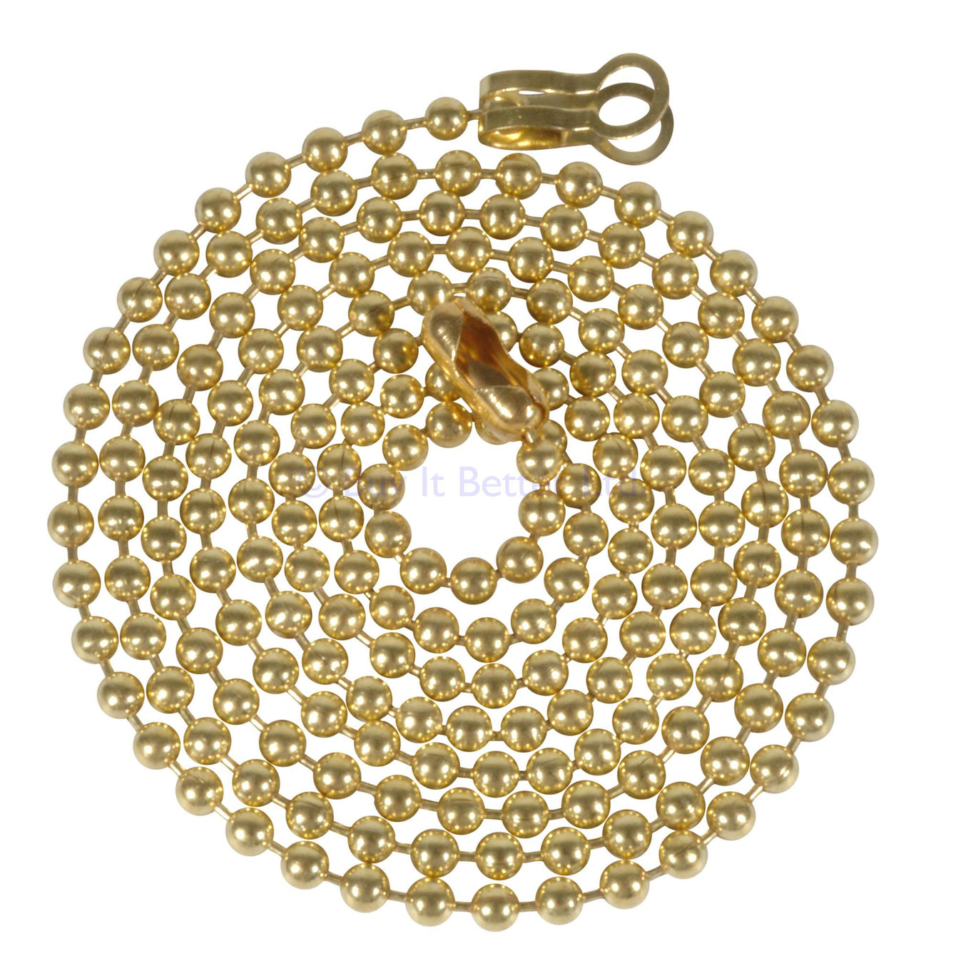 ElekTek Light Pull Chain Extension With Ball Chain Connector 800mm Long Brass - Buy It Better Antique Brass