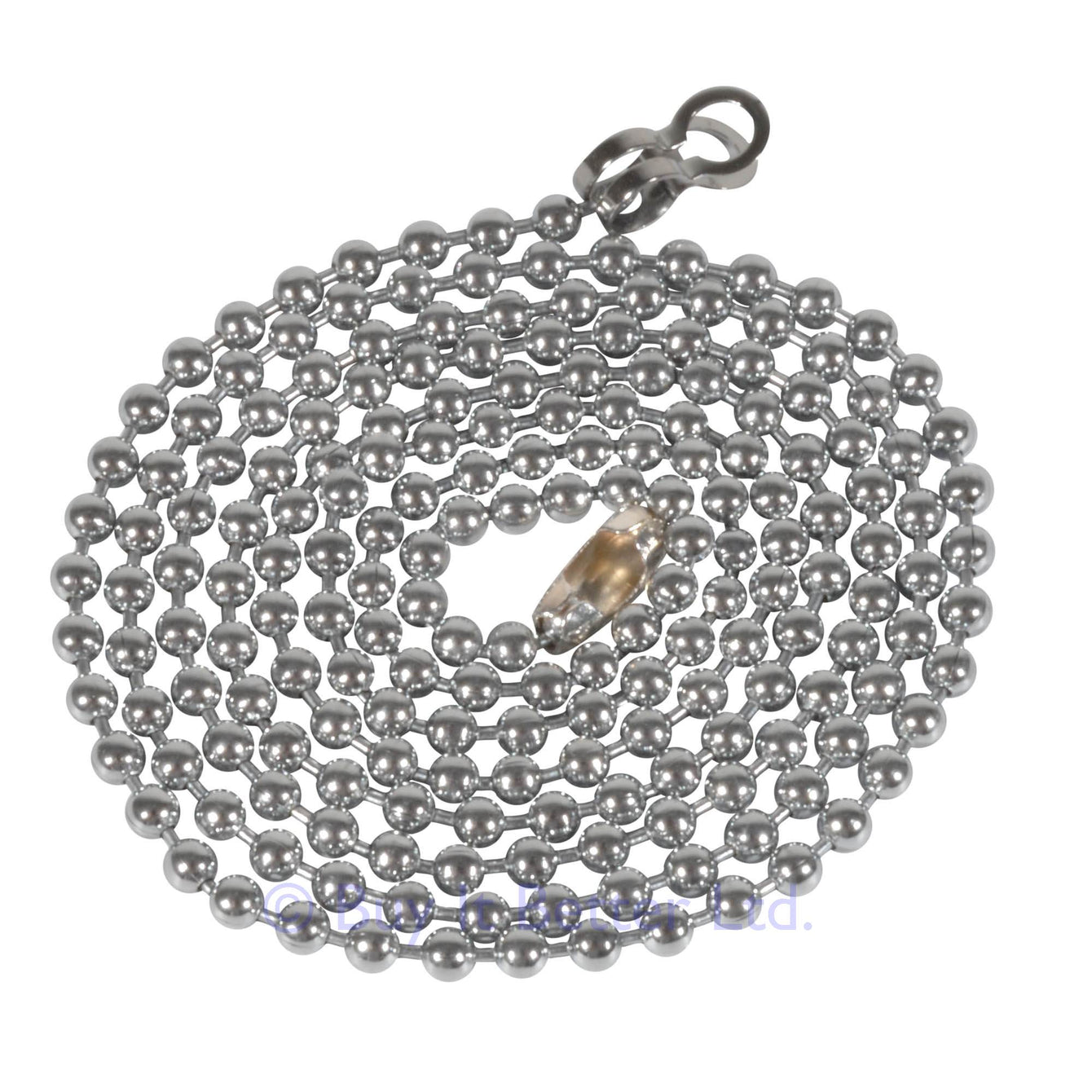 ElekTek Light Pull Chain Extension With Ball Chain Connector 800mm Long - Buy It Better Nickel