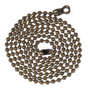 ElekTek Light Pull Chain Extension With Ball Chain Connector 800mm Long Brass - Buy It Better