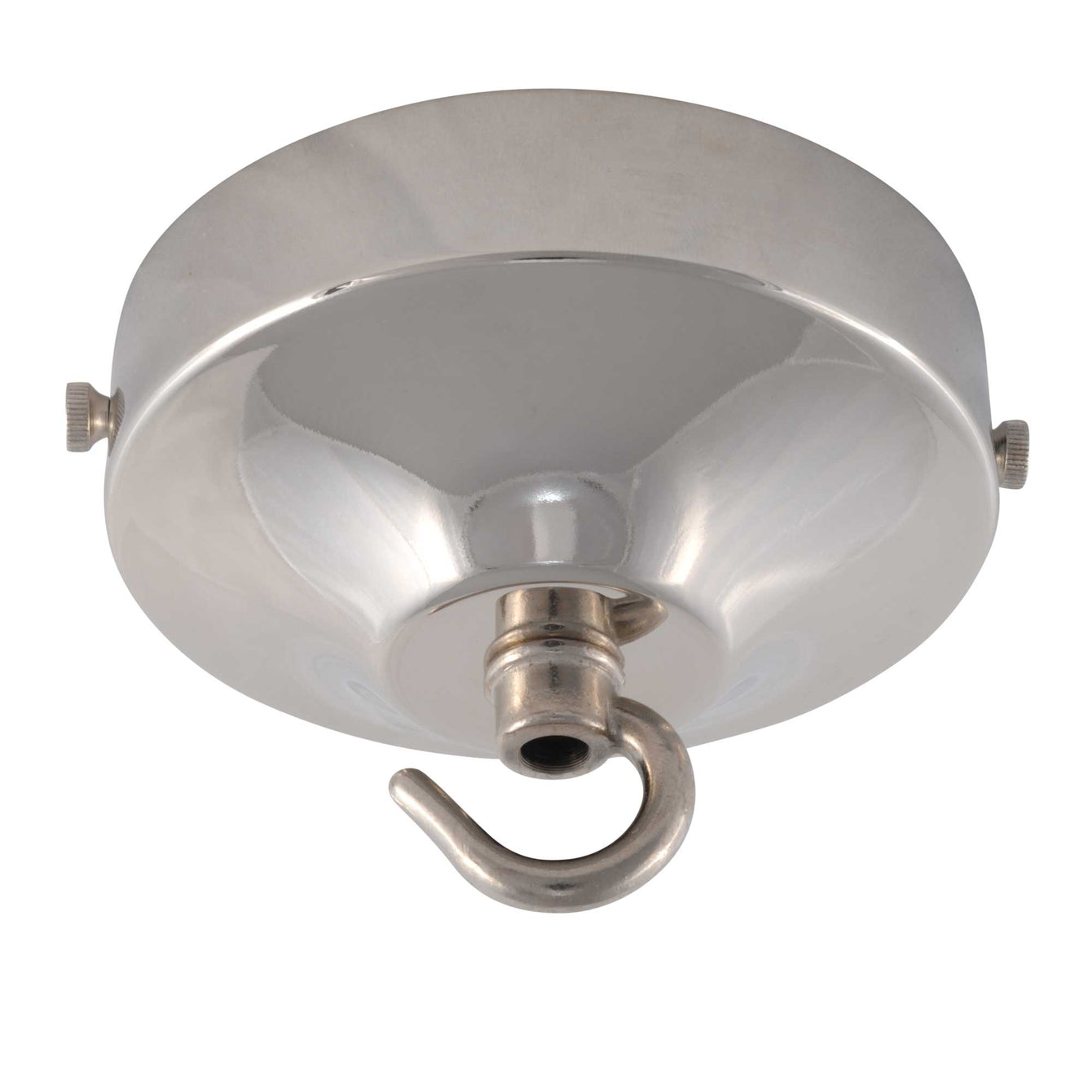 ElekTek 100mm Diameter Convex Ceiling Rose with Strap Bracket and Hook Metallic and Powder Coated Finishes Dawn Blue