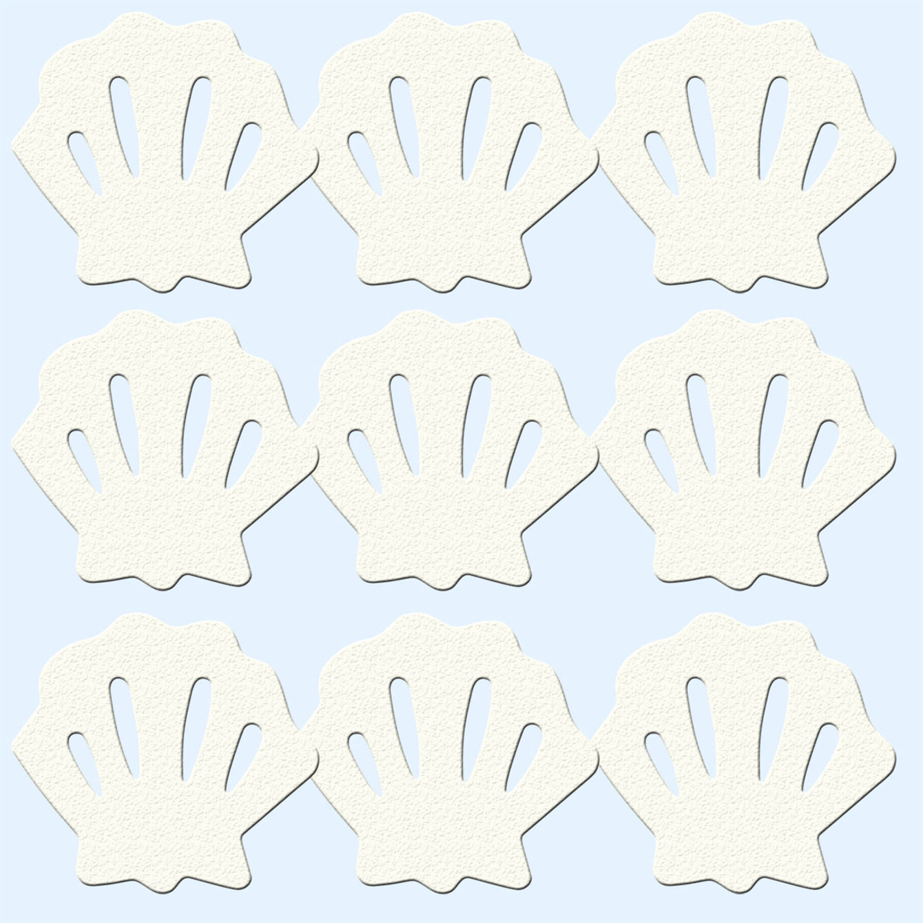 TrimSil Non Slip Sea Shells Bath and Shower Safety Aid 90mm x 75mm max Pack of 9 - Buy It Better