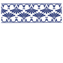 Water Slide Tile Transfers Border Victorian Fantini Cobalt Blue Jade Gold Silver - Buy It Better