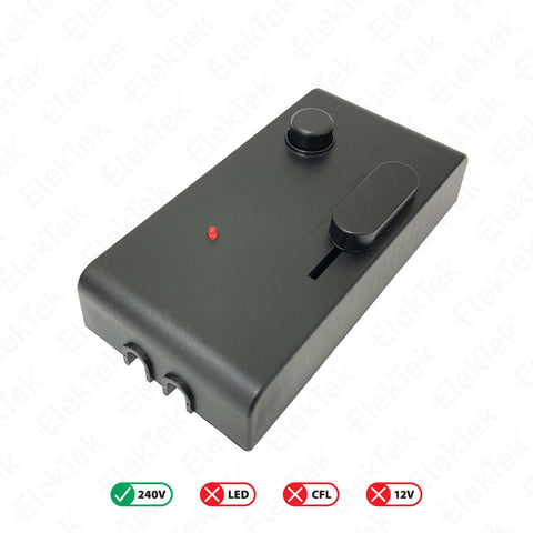Foot Dimmer with ON OFF Switch and Night Location LED Black 60-300 Watts