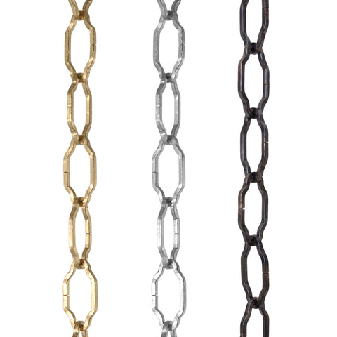 ElekTek Gothic Open Link Chain for Chandelier & Lighting 29mm x 15mm Per Linear Metre