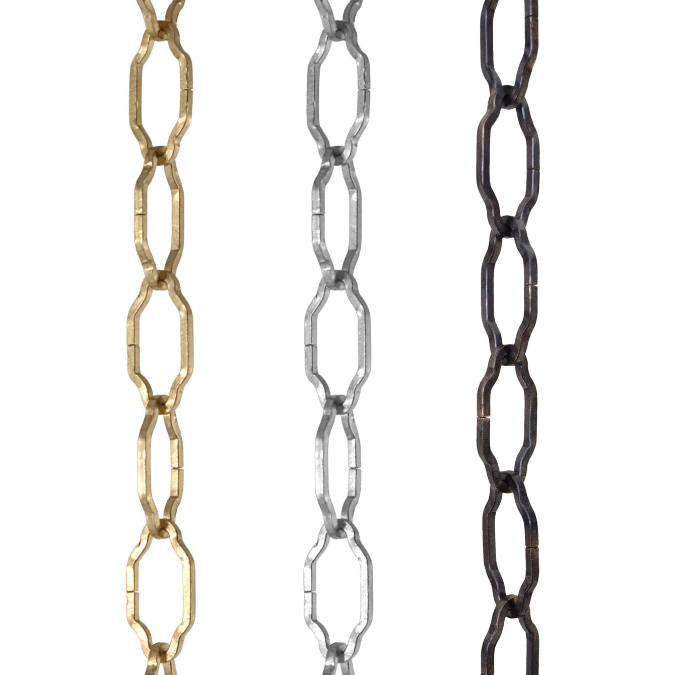 ElekTek Gothic Open Link Chain for Chandelier & Lighting 29mm x 15mm Per Linear Metre - Buy It Better Brass