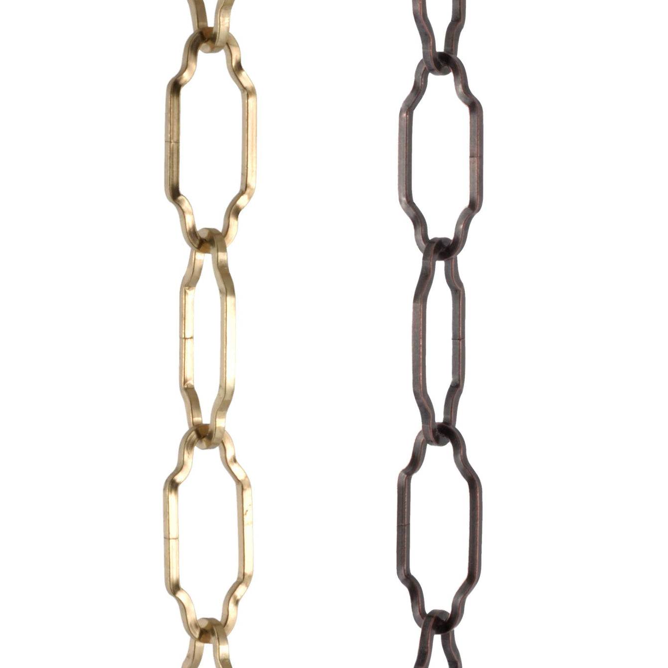 ElekTek Brass Gothic Open Link Chain for Chandelier & Lighting 45mm x 19mm Per Linear Metre - Buy It Better Brass