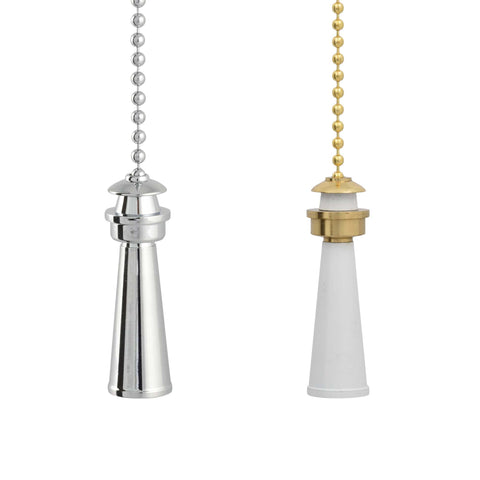 ElekTek Light Pull Chain Lighthouse With 80cm Matching Chain