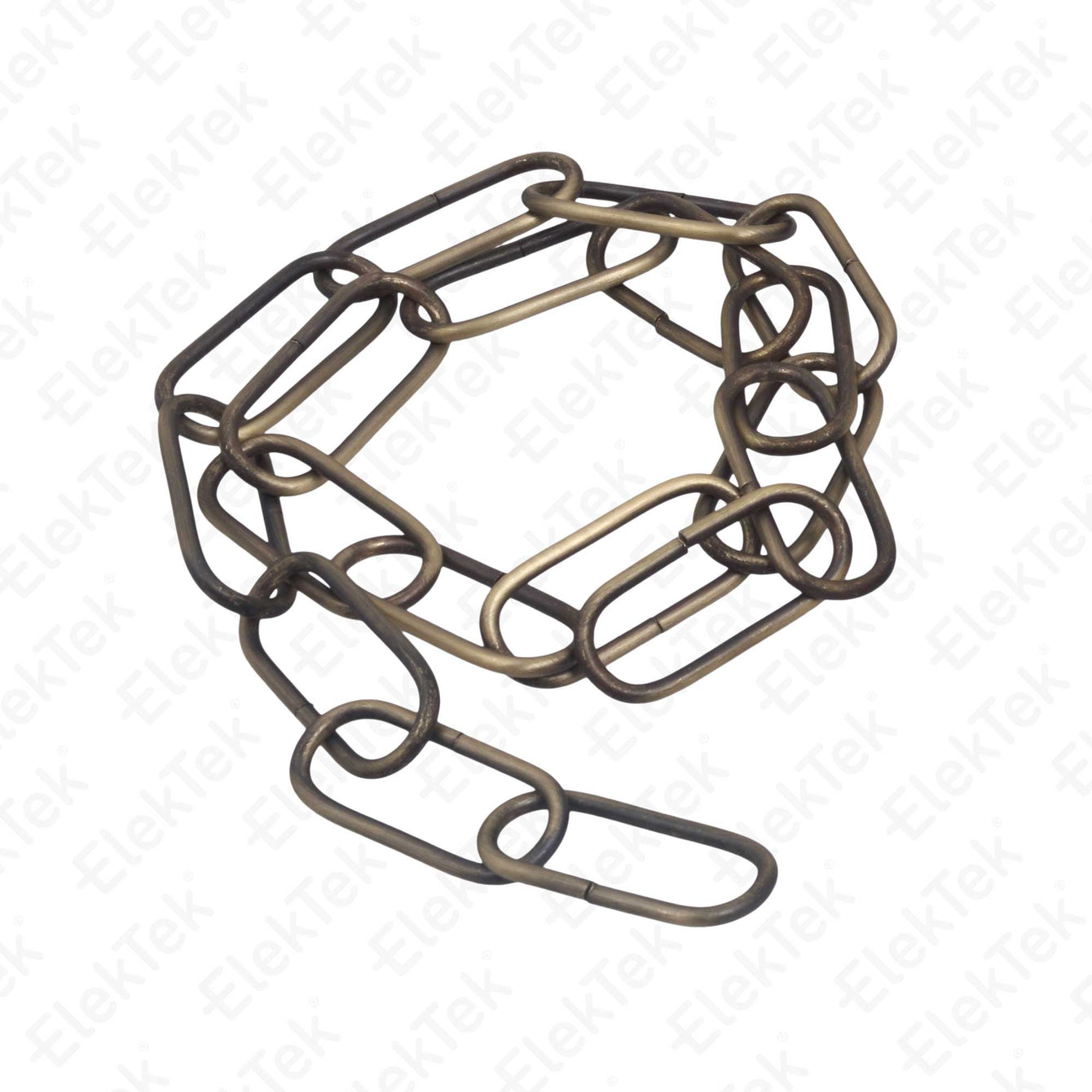 ElekTek Open Link Chain For Chandelier and Lighting Medium 38mm x 15mm Per Linear Metre Steel