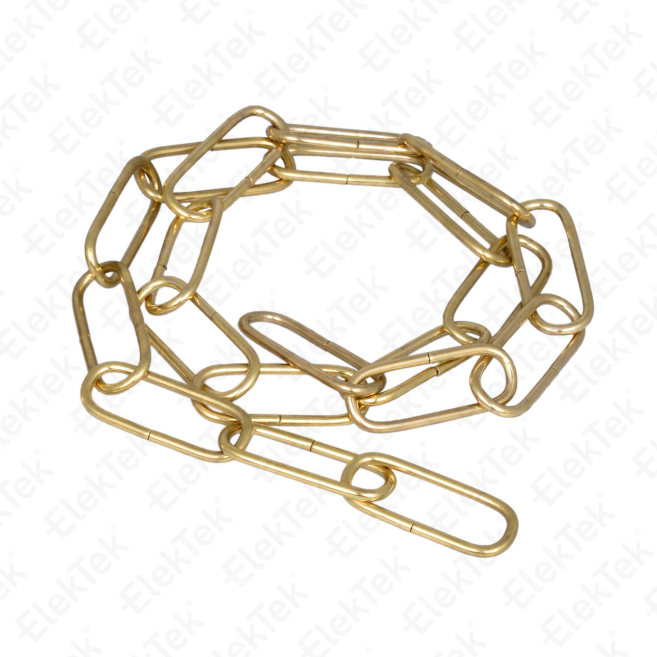 ElekTek Open Link Chain For Chandelier and Lighting Medium 38mm x 15mm Per Linear Metre Chrome