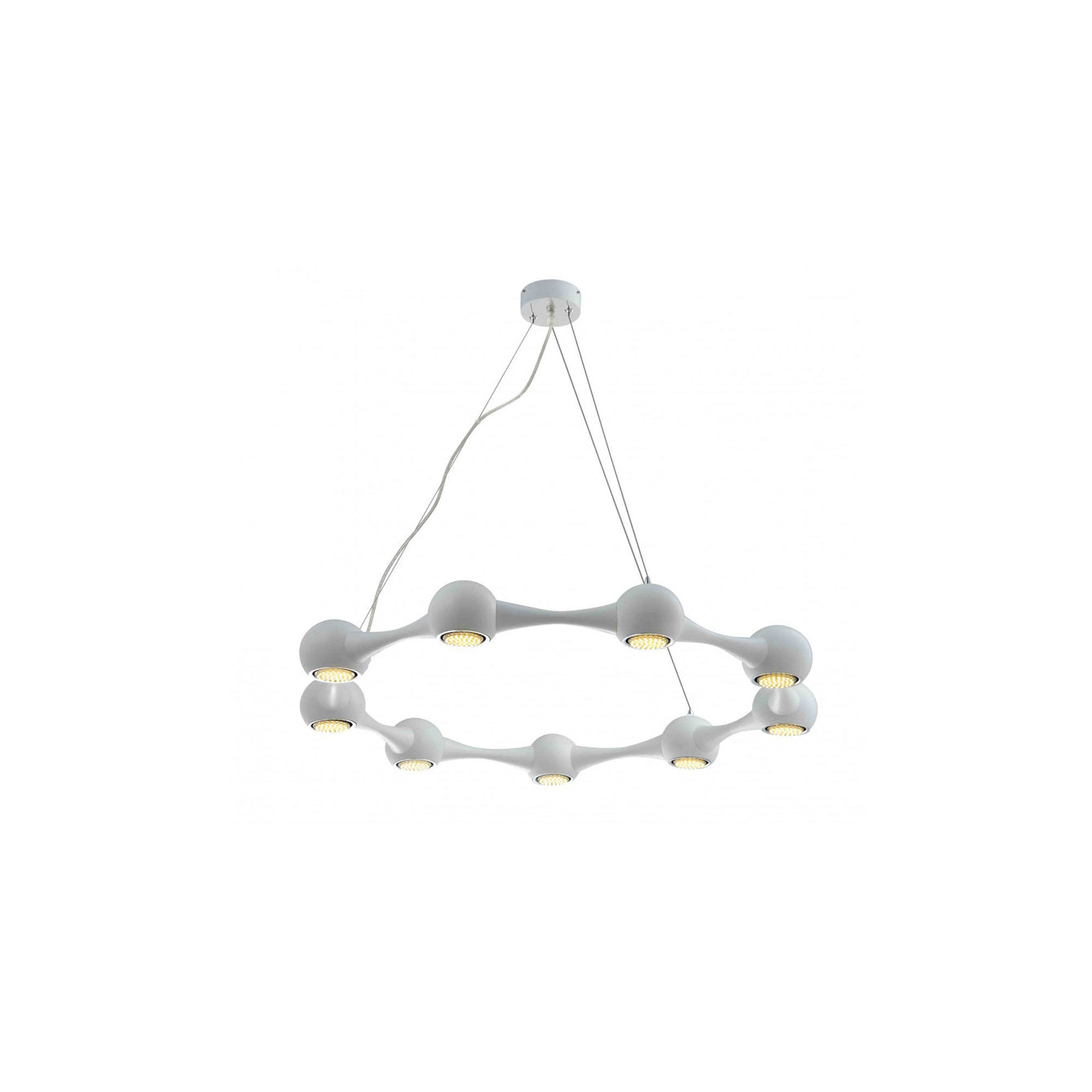 Perivale 3, 5, 6, 9 and 12 Arm Pendant LED Light White - Buy It Better
