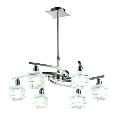 Acton 6 Arm Pendant LED Light