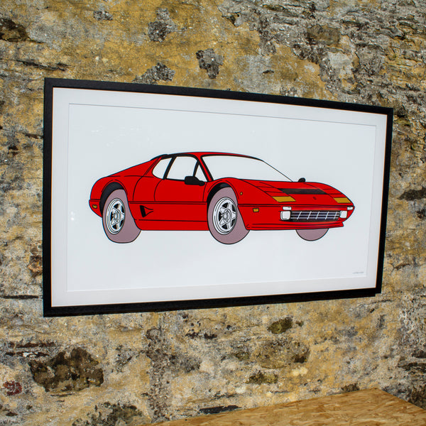 Ferrari framed artwork print