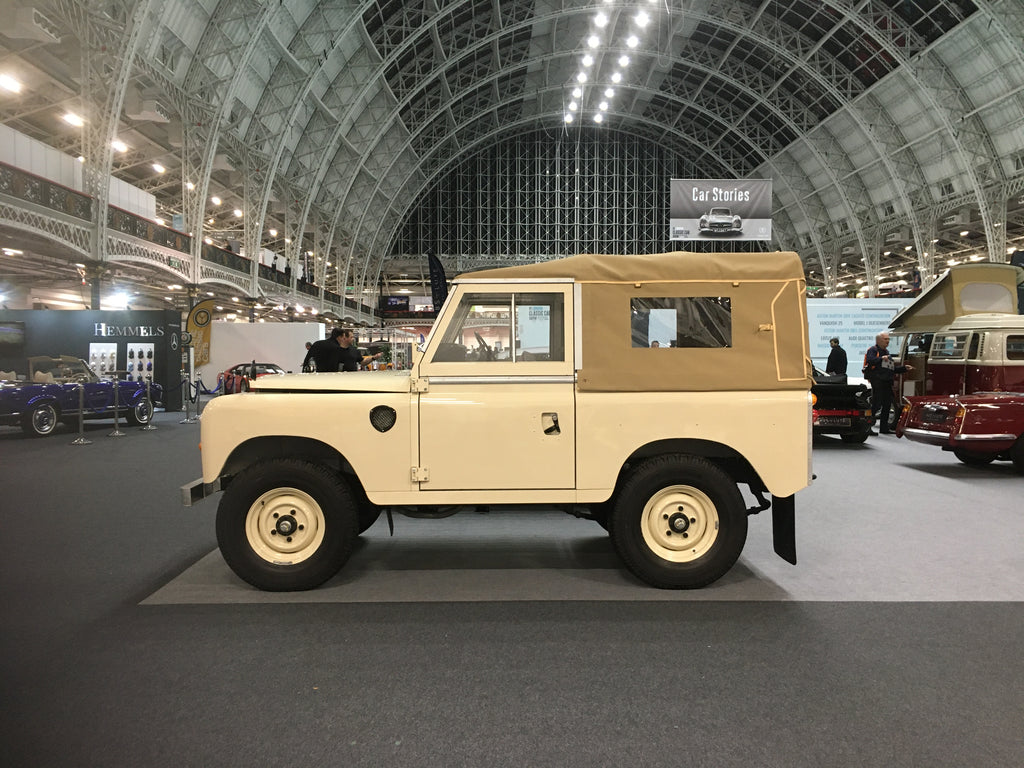 Land rover series classic land rover at Olympia London