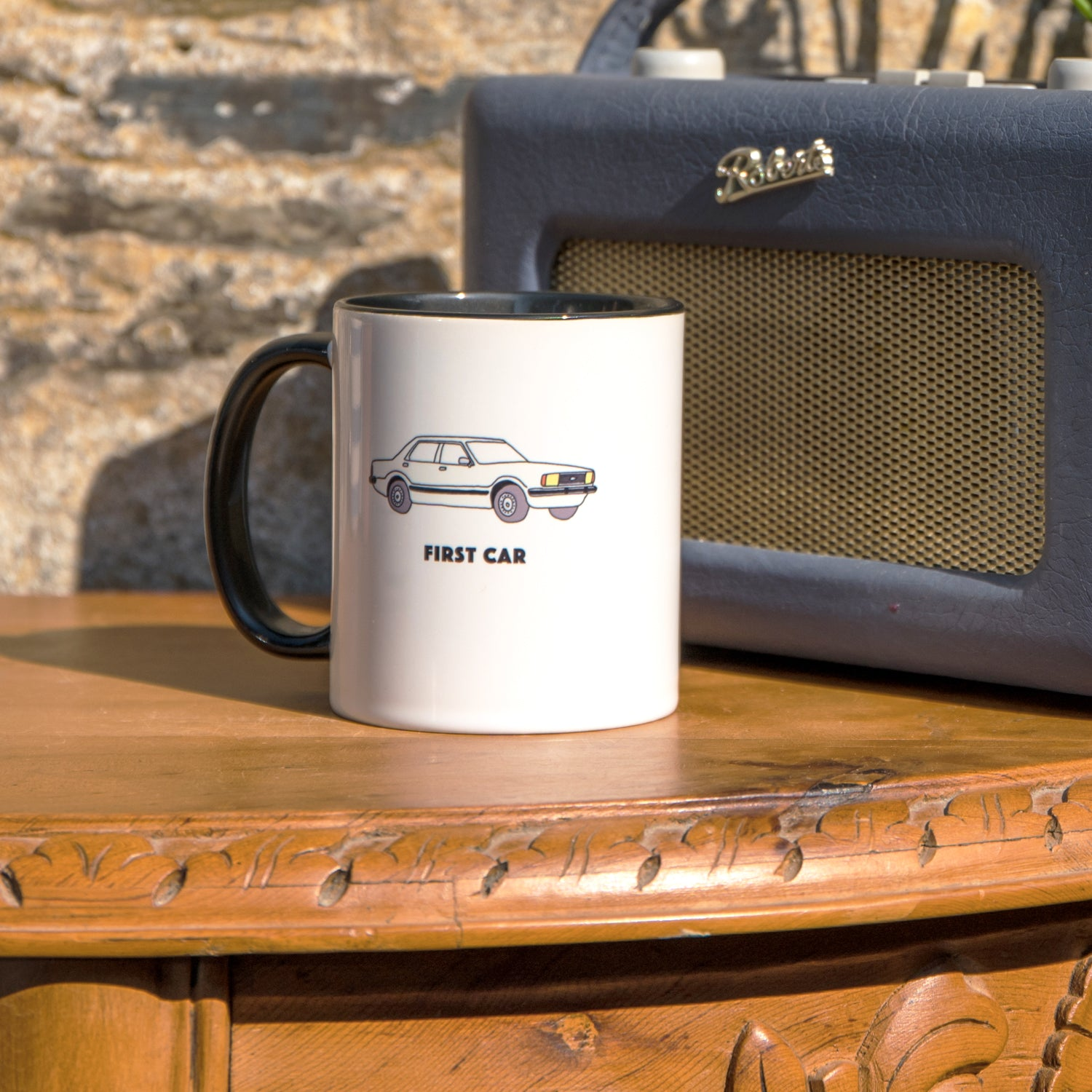 Personalised mug ford cortina