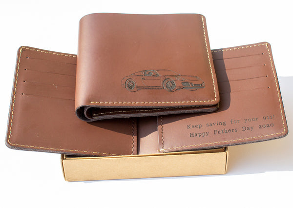 Under the hood™ personalised leather wallet