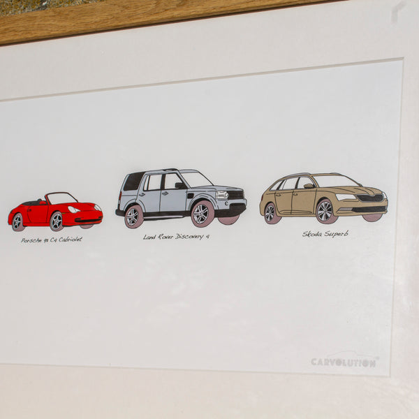 Carvolution® artwork. Your life in cars® Framed
