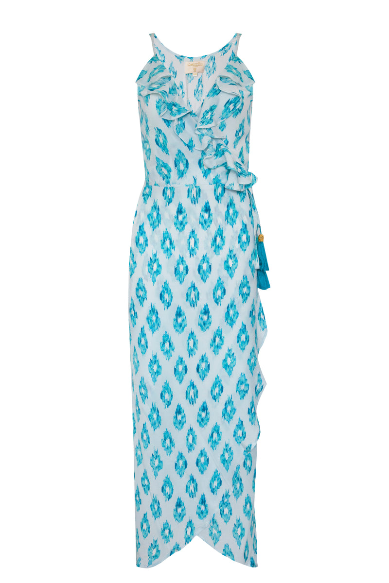 AQUAMARINE DREAM COCKTAIL MIDI DRESS