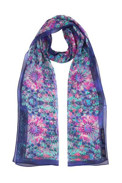 ENCHANTED SKINNY SILK SCARF