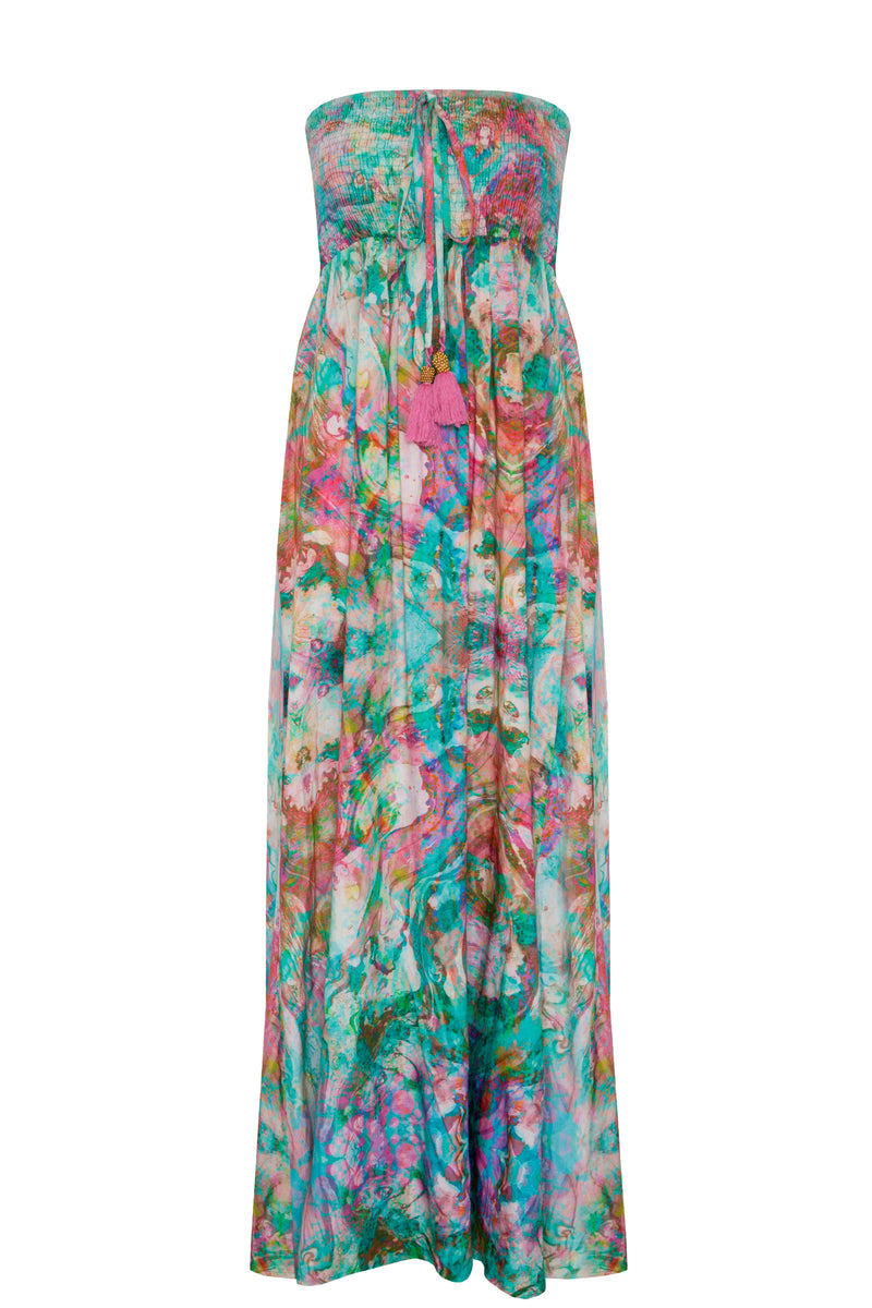 LIQUID RAINBOW BALI BANDEAU DRESS