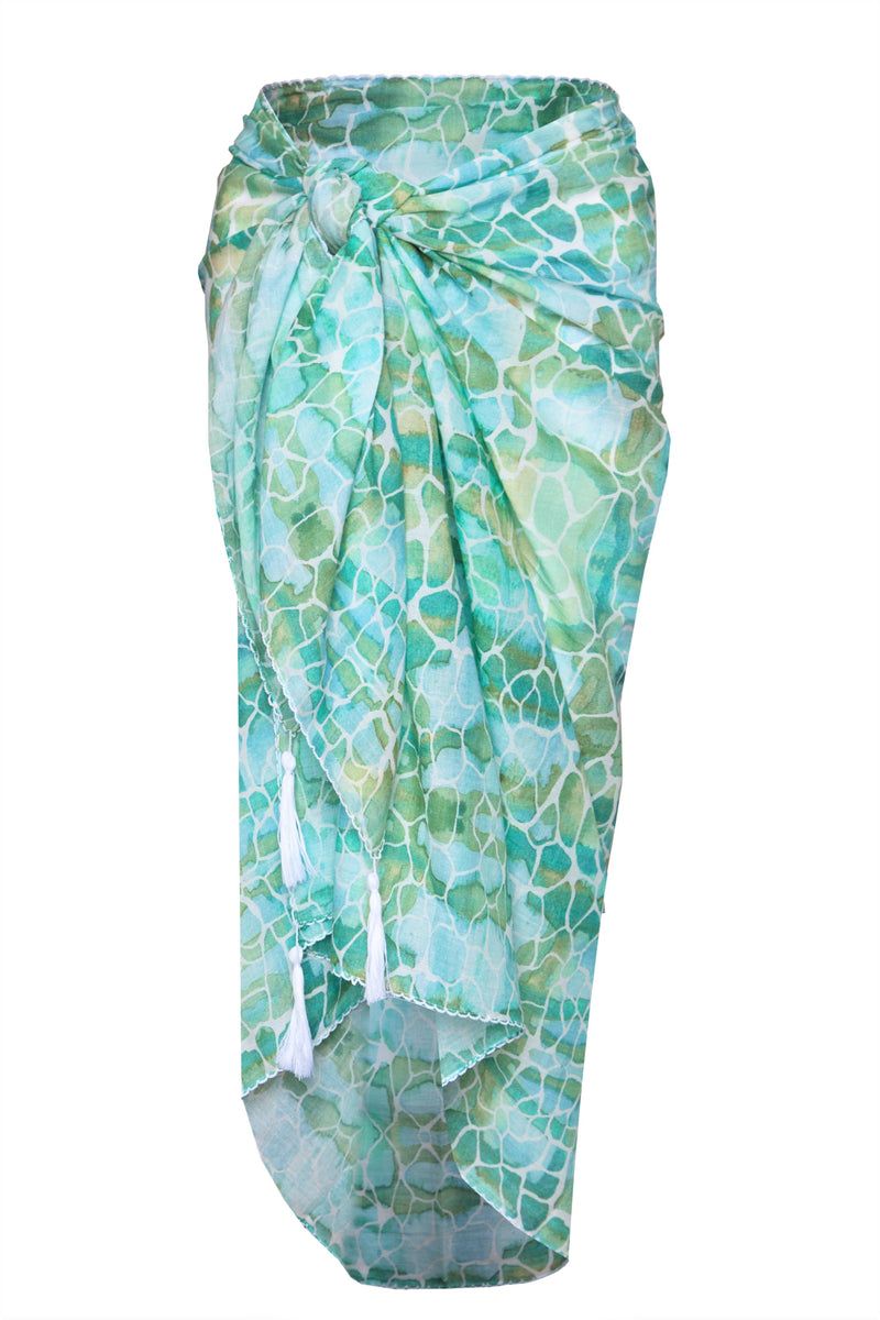 AQUA PEBBLES COTTON SARONG