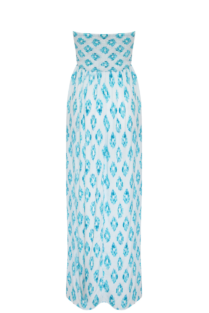 AQUAMARINE DREAM BALI BANDEAU DRESS