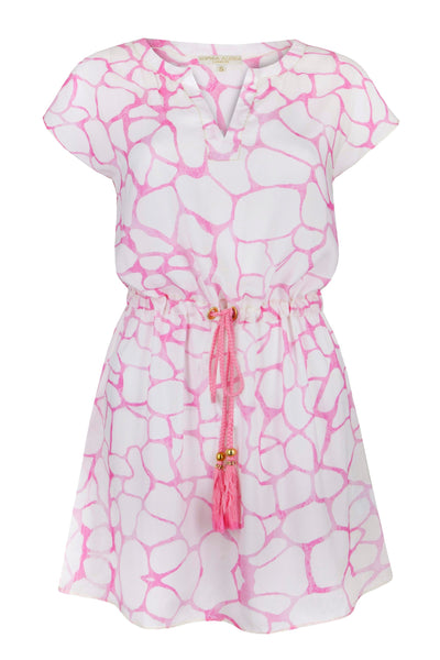 EMPTY PINK PEBBLES TASSEL DRESS