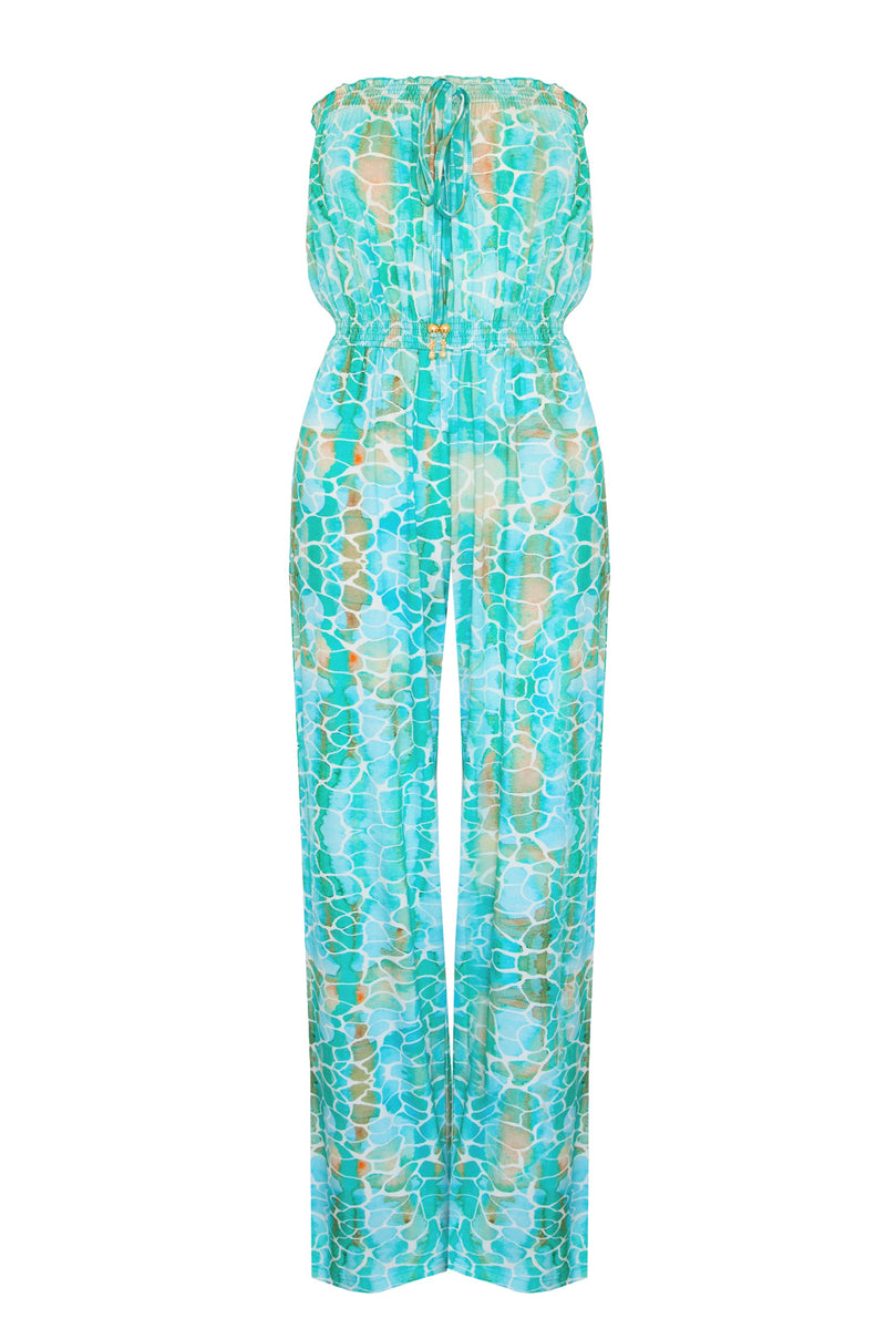AQUA PEBBLES JUMPSUIT