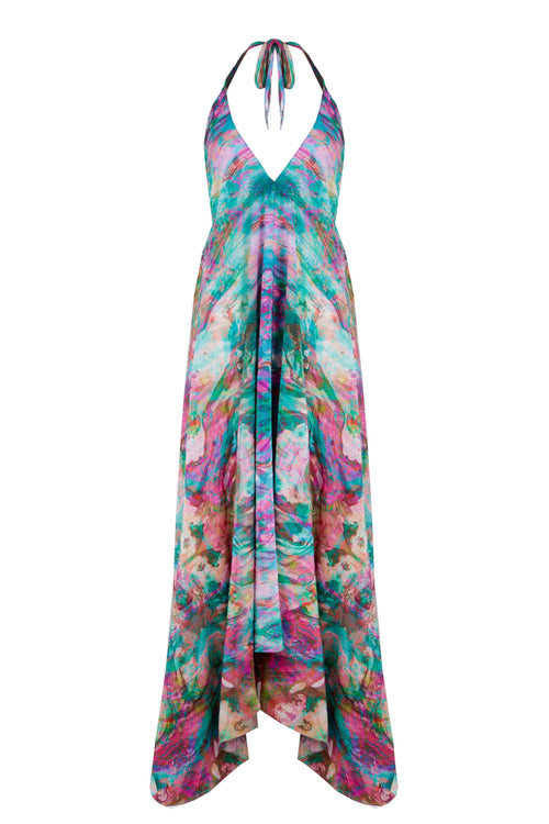 LIQUID RAINBOW IBIZA DRESS