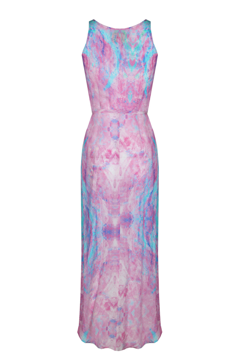FANTASY PINK COCKTAIL MIDI WRAP DRESS