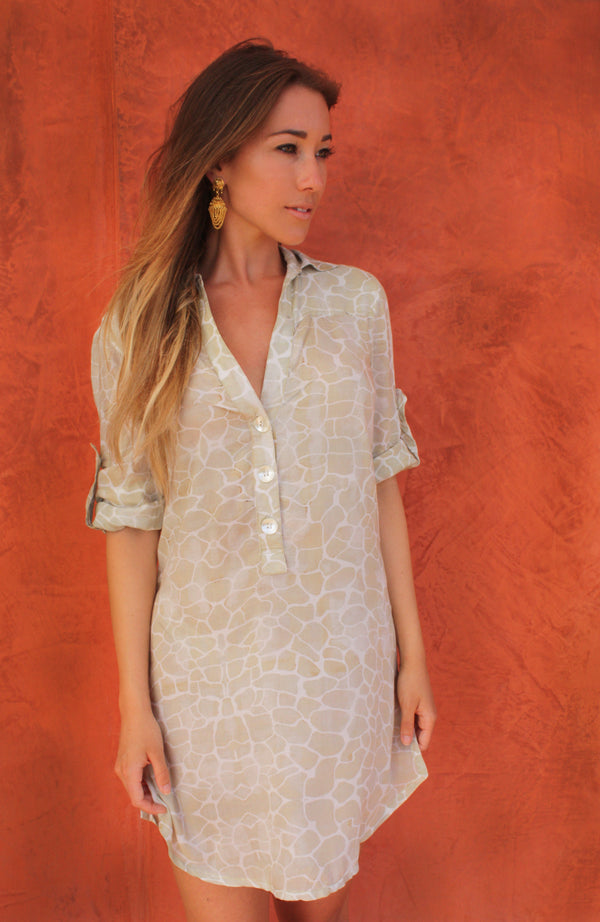 BEIGE PEBBLES BEACH SHIRT