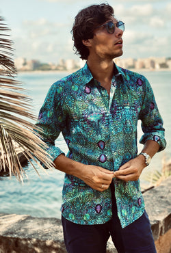 BLUE IGUANA MENS SHIRT