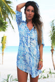 BLUE PEBBLES BEACH SHIRT