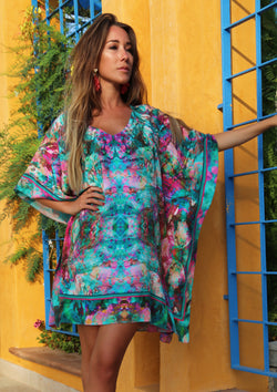 LIQUID RAINBOW SILK KAFTAN