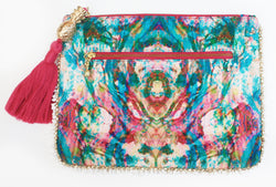 LIQUID RAINBOW CLUTCH BAG