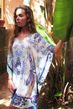 ROYAL DRAGONFLY SILK KAFTAN