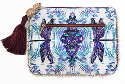 ROYAL DRAGONFLY CLUTCH BAG