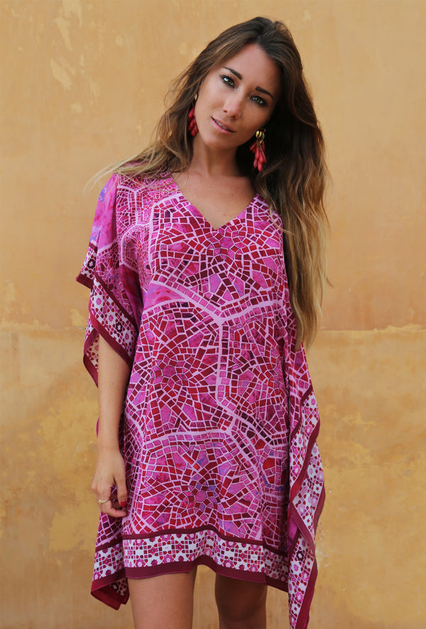 RUBY TREASURE SILK KAFTAN